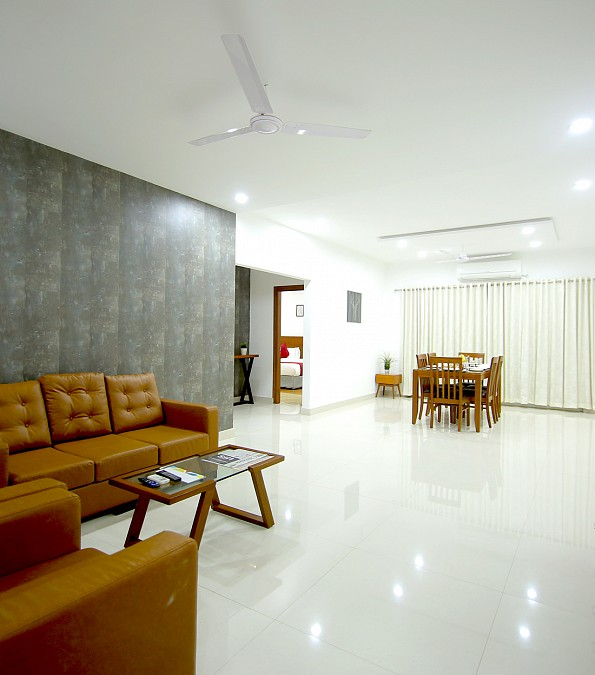 No Bedroom Apartment: 3 BHK Serviced Apartments At Banjara Hills Road No 11 -9000