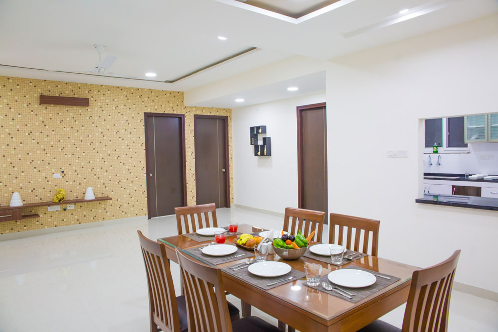 Each Room In This Apartment Is Fully Furnished With An Attached Washroom Sitting And Dining Areas